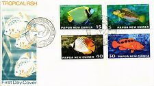 DR JIM STAMPS TROPICAL FISH FIRST DAY ISSUE COMBO PAPUA NEW GUINEA COVER