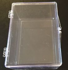 4 Ultra Pro 100 Count Hinged Plastic Baseball Card Storage Boxes. New