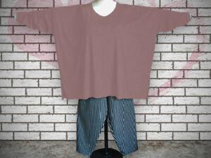 Oversized Shirt, extra lange Ärmel Gr. von 48 - 64,Jersey,Baumwolle altrosa