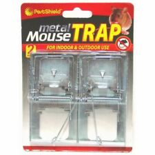 More details for 2 pack metal mouse trap for indoor & outdoor use