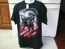 Death The Grim Reaper with Scythe Horse t shirt new with tags Walmart vintage