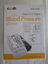 COOSH DIGITAL BLOOD PRESSURE MONITOR-UPPER ARM MODEL CBPM001-LARGE LCD DISPLAY