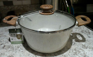 """NEW MASTERCLASS BEIGE SPECKLED 4.3qt 9.5"""" COVERED CASSEROLE HEALTHY OPTIONS"""