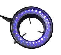 110V-240V 60 LED Purple UV Light Source Microscope Ring Light Lamp Illuminator