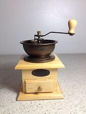 Molinillo De Café color pino Vintage Manual Manija Ajustable Envio desde España