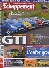 ECHAPPEMENT n°479 07/2007 FERRARI F430 GT3 CIVIC TYPE R CLIO R27 207RC CORSA OPC