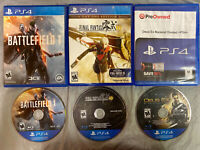 PS4 LOT BUNDLE FInal Fantasy + Deus Ex Mankind Divided + BATTLEFIELD 1 ONE