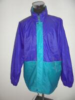 vintage K-WAY Regenjacke Nylon glanz 90er lila/grün Jacke oldschool K Way XXL