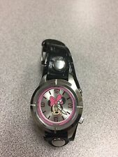 Disney Woman's / Girl's Minnie Mouse LED Lighted Dial Watch Pink LED