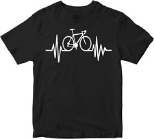 Cycle pulse T-shirt cyclist novelty Heartbeat bicycle sport Racing Gift Tee top
