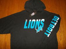NWT NFL TEAM APPAREL DETROIT BLACK LIONS HOODED SWEATSHIRT MENS 2XL
