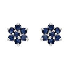 Pendientes de joyería con gemas en plata de ley de zafiro