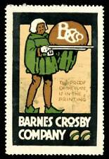 USA Poster Stamp - Barnes Crosby Co., Engravers, Chicago - Bradbury # C319