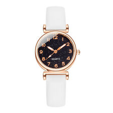 Quartz Wrist Watch Women Ladies Leather Strap Analog Fashion Casual Watch LIU9