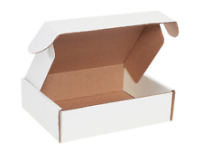 """11 1/8 x 8 3/4 x 3"""" White Deluxe Front Lock Protective Mailer Boxes 50/Bundle"""