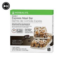 Herbalife Formula 1 Express Meal Bar: Cookies 'n Cream 7 Bars per Box/ FREE SHIP