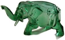 Vaseline Green Depression Glass Elephant Candy Container