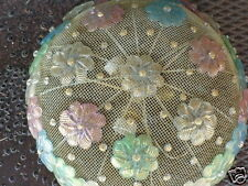 VINTAGE MID CENTURY ITALY VENETIAN MURANO FLORAL GLASS CEILING LIGHT FIXTURE