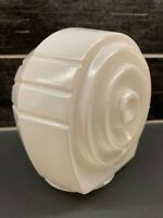"Vtg Milk Glass Bathroom Porch Light Sconce Globe Art Deco 3 1/8"" Fitter"
