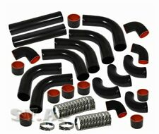 "Turbo 2.5"" Intercooler Turbo Custom Engine 12Pc Piping Pipe Kit Black Hose Clamp"