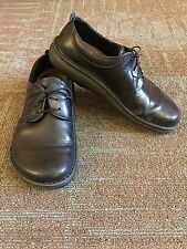 Footprints By Birkenstock Black Leather Corvallis Oxford Unisex, Size 42 R