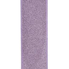 NEW Kurt Adler Glittered Lavender Wired Christmas Ribbon T2220