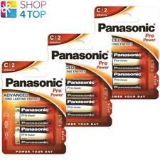 6 PANASONIC ALKALINE PRO POWER C LR14 BATTERIES 1.5V BABY R14 MN1400 AM2 E93 NEW