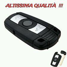 Cover Guscio Chiave Telecomando per BMW Serie 1 3 5 6 7 X5 X6 Z4 Nera Smart Key