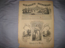 ANTIQUE 1853 VICTORIAN ART BEAUTIFUL WOMAN IDYLLIC LANDSCAPE ALLEGORICAL PRINT N