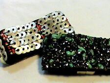 2 Vintage Wrap Bracelets turquoise  Mother of Pearl one  Signed TTK