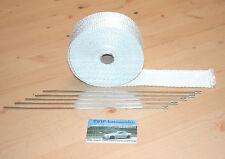 Protezione CALORE NASTRO BIANCO * NUOVO * 1 ROTOLO 10m 800 gradi 50mm bianco di scarico (1,45 €/m)