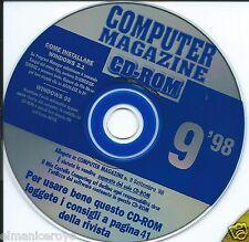 VINTAGE CD ROM COMPUTER MAGAZINE SETTEMBRE 1998 WINDOWS 3.1 e WINDOWS 95