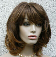 Fashion Simple Medium Brown Wig Women's Natural Comfort Short Straight Full Wig