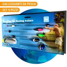 9 x Galleggianti da Pesca Varie Misure per Acque Stagnanti Pescatori Fish Active