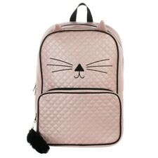 Quilted Cat Backpack for Kids and Adults - Laptop Book Bag