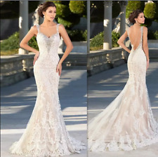 Wedding Dresses Long Sleeves Mermaid Lace Backless Bridal Gowns Sexy Vintage