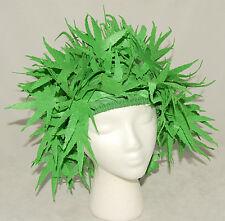 Pot Head - Green Felt - Leaves - Funny Adult Halloween Costume / Hat Wig *NEW!