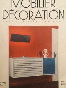 Magazine Mobilier et decoration No 7. 1955
