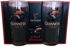More details for guinness official merchandise toucan 2 pint glasses