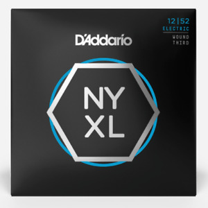 D'Addario NYXL Electric Guitar Strings. (with wound 3rd) Gauge: 12-52