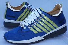 New Dsquared2 Men's Shoes Blue Sneakers Tennis Size 43 Tessuto Tecnico Fashion