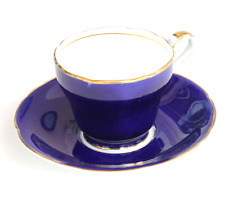 Aynsley Cobalt Blue & Gold Bone China Demitassse Cup and Saucer