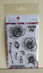 Forever Flowers Royal Rose A5 Clear Stamp Set