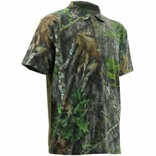 NOMAD NWTF Mossy Oak Obsession Camo Turkey Hunting Polo Shirt Sz L NEW