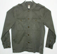 Men's LUCKY BRAND KH1 Olive Drab Green Front Button Military Field Jacket Size M