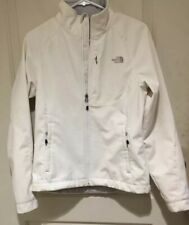 The North Face Jacket, Woman's, Size M, White, Full Zip Front, 3 Zip Pockets Fro