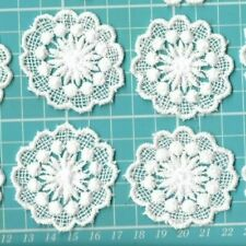 BULK LOT OF 8 LACE APPLIQUE EMBELLISHMENTS SEWING CRAFTS JEWELLERY CARD MAKING