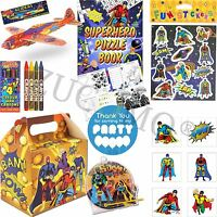 Kids Superhero Party Bags Boxes Super Heros Party Supplies Pre Filled Bags