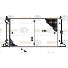 BEHR HELLA SERVICE - Radiator Car Cooler (8MK 376 720-511)