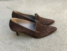 Patrick Cox Vintage Women's Loafer Heels Pumps Made in Italy Couture Size 38.5
